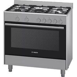 Bosch HSG734357Z Cooker 5 Gas, 90CM, Gas Oven/ Grill - Stainless Steel