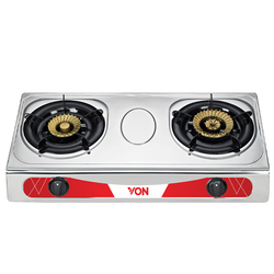 Von VAC7K202X Table Top 2 Brass Burner - Heavy Duty