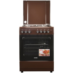 Simfer 6321NEK 3 Gas + 1 Electronic Cooker - Mono Brown