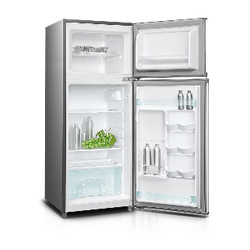 Von VART-17DHS Double Door Fridge 128L - Silver