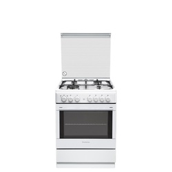 Ariston CX65SP1/(W)/ A6TMH2AF(W) 4 Gas + Electric Oven Cooker - White