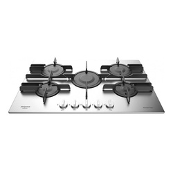 Ariston FTGHL 751 D/IX/A Built In Hob, 5G, 75CM, Direct Flame - Cast iron