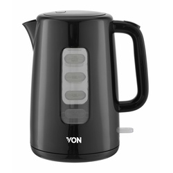 Von VSKL25CDK 2.5L Cordless Kettle 2200W - Black
