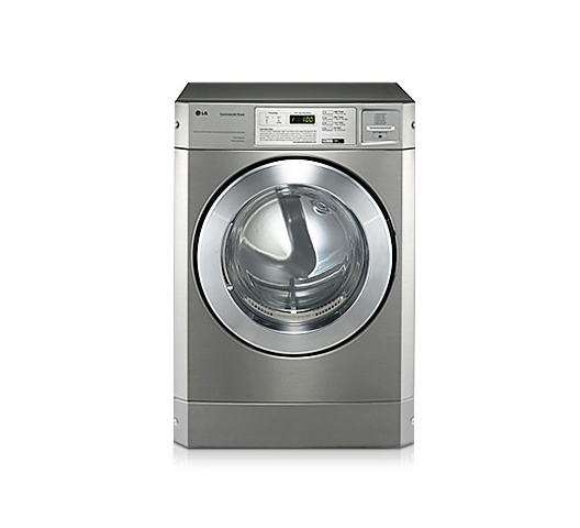 LG RV1329CD7P Front Load Commercial Dryer, 10KG, Silver - Stackable