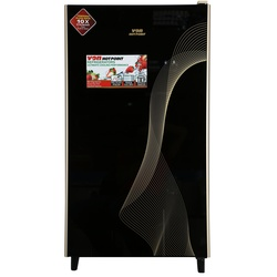 Von Hotpoint HRD-181B Single Door Fridge 160L -  Mirror Black