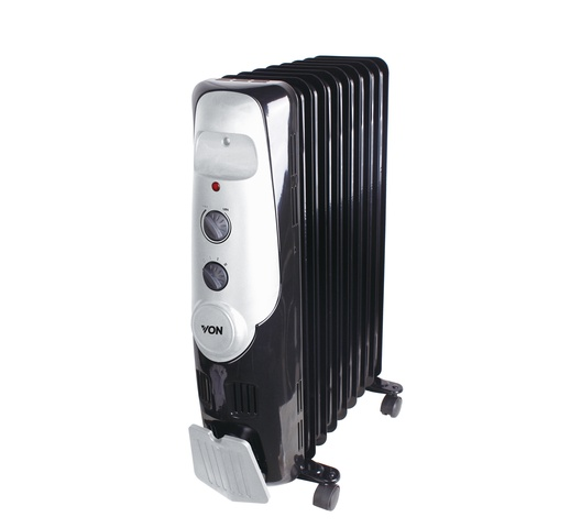 Hotpoint Von Heater VSHC2090K in Kenya 2KW Oil Filled Radiator Heater, 9 Fins - Black