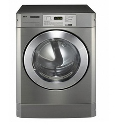 LG RV1329A4S Front Load Commercial Dryer DD 10KG Silver - Free 700g Ariel Detergent & 300ml Downy Softener