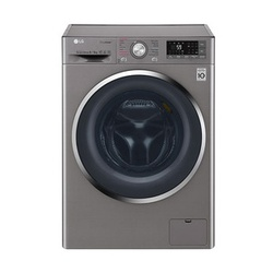 LG F4J8FHP2S Front Load Washer/Dryer, Steam, 9/6 Kg - Silver
