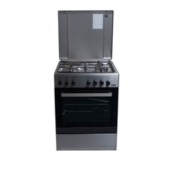 Von Hotpoint 7312NEI/VAC6S031UX 3 Gas + 1 Electric Cooker - Inox