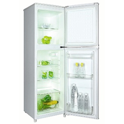 Von VART-25DHS Double Door Fridge 170L - Silver