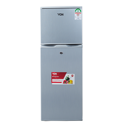 Von VART-19DHS Double Door Fridge 138L - Silver