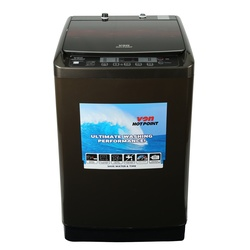 Von Hotpoint Washing Machine HWT-8082K/VALW-08TWK Top Load 8KG Black + FREE 2KG ARIEL DETERGENT & 1L DOWNY SOFTENER