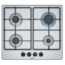 Bosch PGP6B5B60 Built In Hob 4 Gas Front Control - Stainless Steel