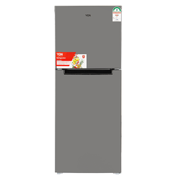 Von VART-27NHS Double Door Fridge 216L - Silver