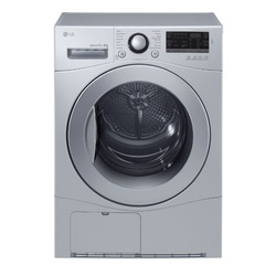 LG RC8066CF Condensation Dryer, 8KG - Silver - Free 750g Ariel Detergent & 300ml Downy Softener