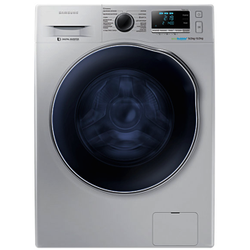 Samsung WD90J6410AS/NQ Front Load Washer Dryer P.Memory 9/6KG - Silver - Free 750g Ariel Detergent & 300ml Downy Softener