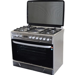 Von Hotpoint F9E50E2/F9E42G2.IL.S 4 Gas + 2 Electric Cooker - Stainless steel