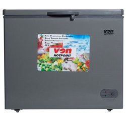VON HCFM250WS Showcase Freezer 200L LVS, LED - Grey