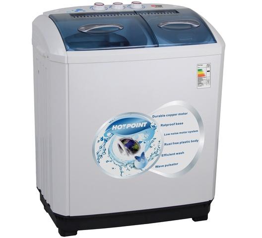 Von Hotpoint Washing Machine HPTT10 in Kenya Twin Tub Washing Machine - White - 10 Kg