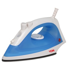 Von HSI2142SB/VSIS22BSL Steam Iron Stainless Steel Plate, 1300W – Blue