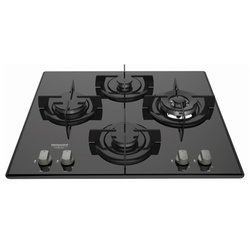 Ariston DD 642 A Built In Hob, 4 Gas, 60CM - Black