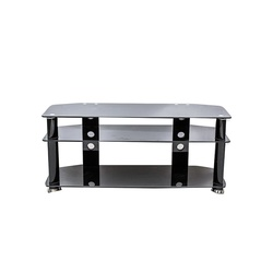 TV Stand CG- 103B 1200X400X600MM Black with Tempered Glass