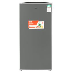 Von VARS-21DHK Single Door Fridge 155L - Silver