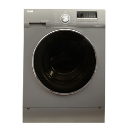 Von HWF-916SI/VALW-09FXK Washing Machine, Front Load, 9KG, Inverter - Silver