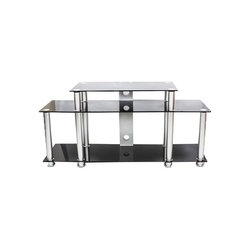 TV Stand CG- 504S 1300X400X650MM Silver with Tempered Glass