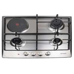Von H6310VERM/VBHS6310X Built in Hob 3 Gas 1 Rapid Plate - Stainless steel