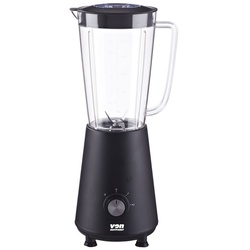 VON HB341ZK Blender Smoothie + Mill + Jar 1L Black - 350W