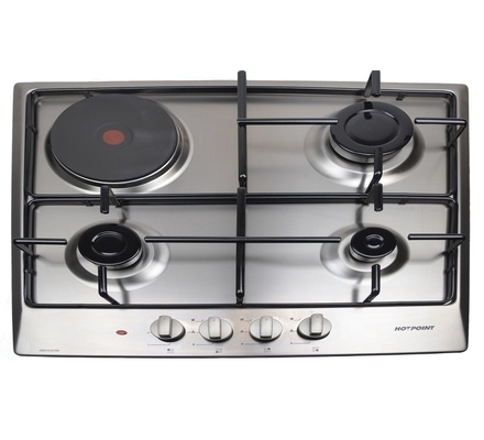 Hotpoint H6310VERM Built in Hob 3 Gas 1 Rapid Plate - Stainless steel