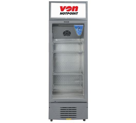 Von Hotpoint showcase chillers HPBC198W in Kenya Vertical Cooler, 188L - White+Grey show case chiller and display fridge