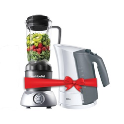 NutriBullet NB2-1212S Select 2.0 10 Piece Set GET FREE Braun WK300 Upright Kettle