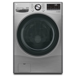 LG F0L9DGP2S Front Load Washer Dryer, 15/8 KG - Silver