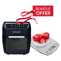 Nutricook NC-AFO12 Air Fryer Oven - 12L  GET FREE Nutricook NC-KSE5 EKO Kitchen Weigh Scale