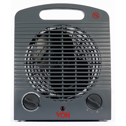 Von VSHJ20FY Fan Heater, 2000W - Grey