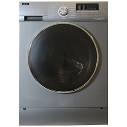 Von HWF-716SI/VALW-07FXK Washing Machine, Front Load,  7KG, Inverter - Silver