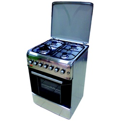 Von Hotpoint F6S40E2.I.E  4 Gas Cooker - Stainless Steel