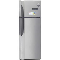 VON HRN-502S/VART-50NGK Double Door Fridge, Top Mount Freezer, 350L – Silver