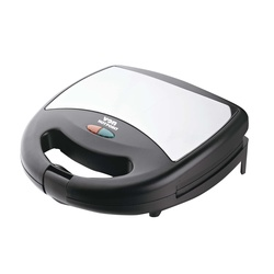 Von Hotpoint HS2YGS Two Slice Sandwich Maker - Stainless Steel