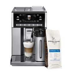 Delonghi ESAM6900 Coffee Bean To Cup Primadonna Exclusive - Get FREE Spring Valley 500G Espresso
