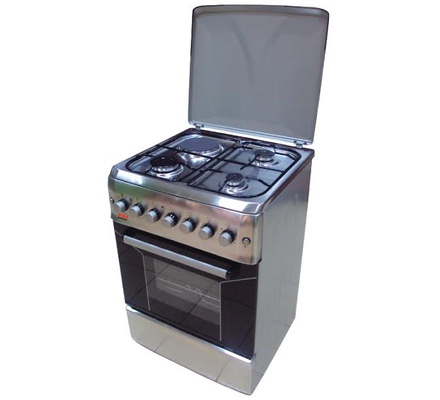 Von Hotpoint TF.6131.G2.Y/F6S31E2.I 3 Gas + 1 Electric Cooker - Stainless Steel