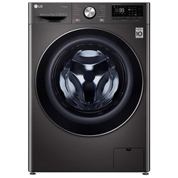 LG F4V9BWP2E Front Load Washing Machine, 12KG - Black