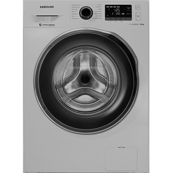 Samsung WW80J5260GS/NQ Front Load Washing Machine, Silver - 8Kg