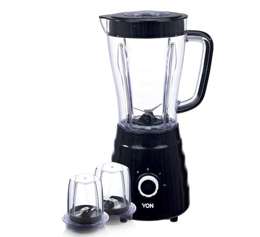 VON Hotpoint Blender HB251ZK in Kenya Blender + Mill 1.5L Black - 500W