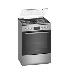 Bosch HXQ38AE50M 4 Gas Cooker + 1 Electric Oven - Stainless Steel