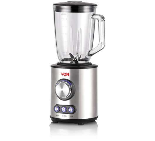 Von VSBT08PGX Blender 1.5L, 800W - Stainless Steel - Get Von HK317DK/VSKL17MDK 1.7L Upright Cordless Kettle - Black FREE