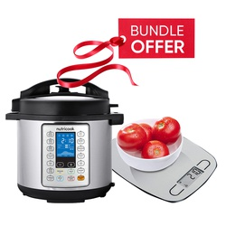 Nutricook NC-SPPR6 Prime Smart Pot Pressure Cooker - 6L GET FREE Nutricook NC-KSE5 EKO Kitchen Weigh Scale