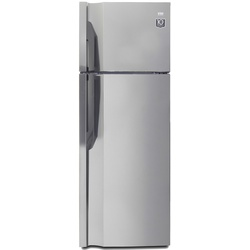 VON HRN-352S/VART-35NGK Double Door Fridge, Top Mount Freezer, 311L – Silver